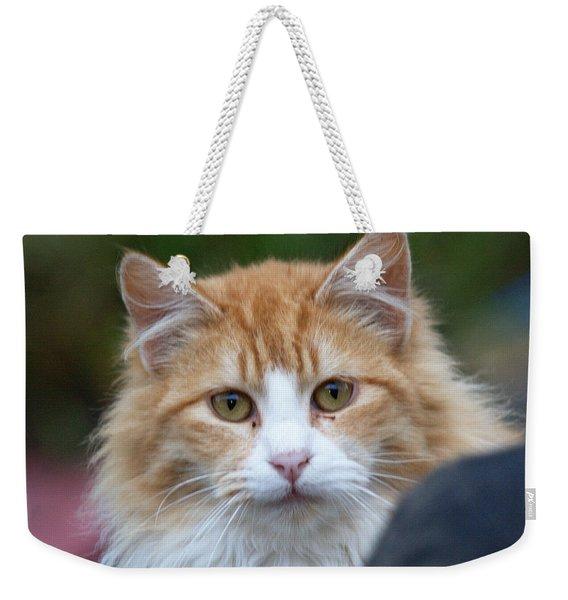 Fluffy Orange Weekender Tote Bag