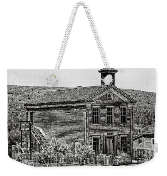 Free Masons Clubhouse - Bannack Montana Ghost Town Weekender Tote Bag
