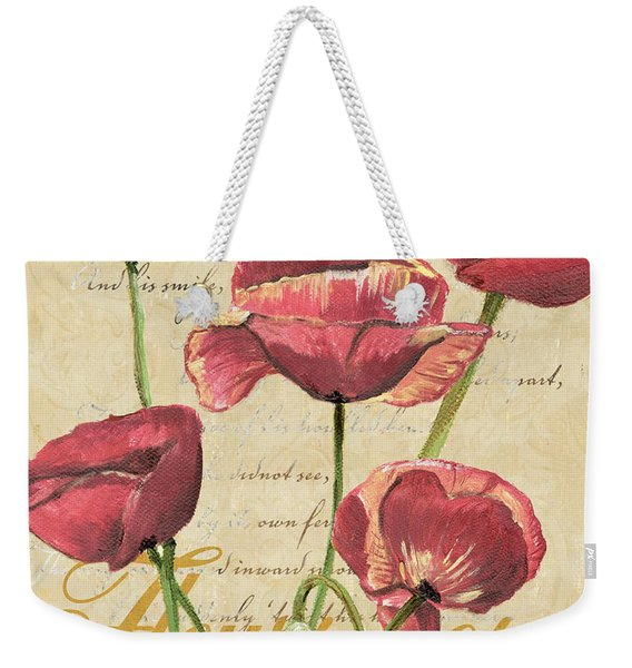 French Pink Poppies 2 Weekender Tote Bag