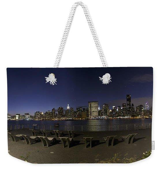 From Gantry At Night Weekender Tote Bag