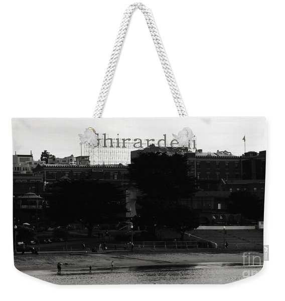 Ghirardelli Square In Black And White Weekender Tote Bag