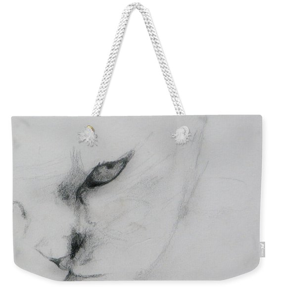 Ghost Cat Weekender Tote Bag