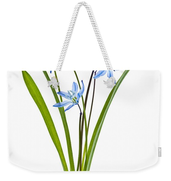 Blue Spring Flowers Weekender Tote Bag