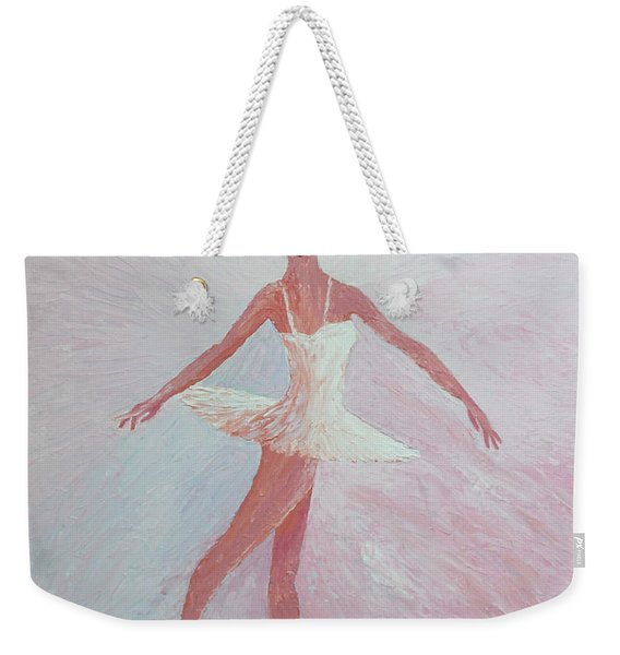Glowing Ballerina Original Palette Knife  Weekender Tote Bag