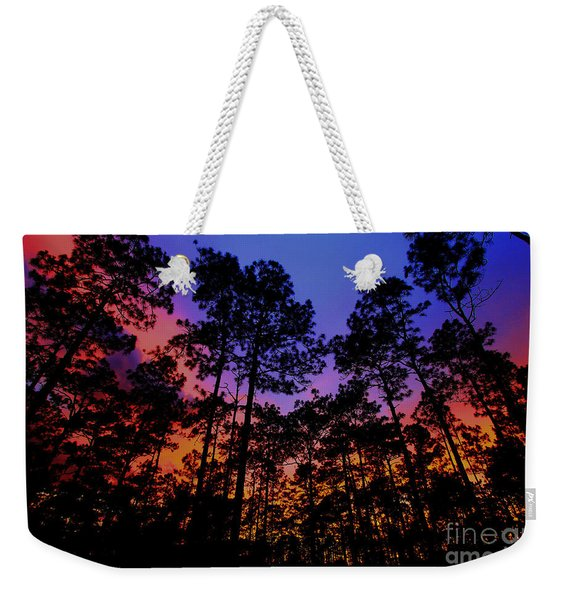 Glowing Forest Weekender Tote Bag