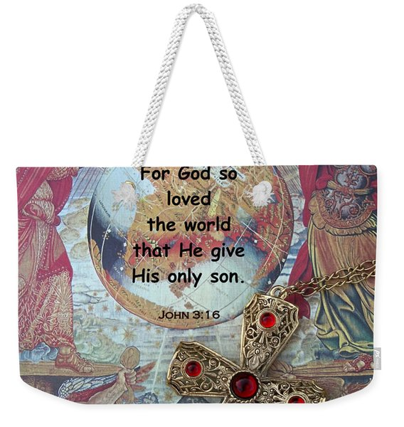Weekender Tote Bag featuring the photograph God's Gift by Cynthia Amaral