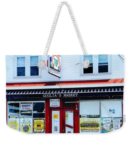 Goglias Market Bristol Ri Weekender Tote Bag