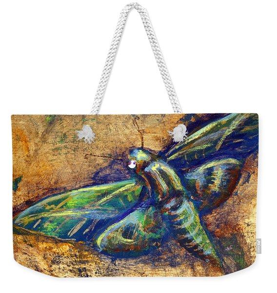 Gold Moth Weekender Tote Bag