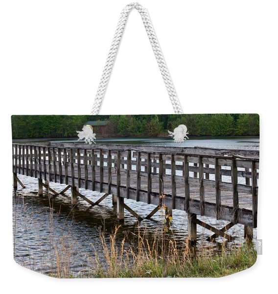 Golf Course Pier Weekender Tote Bag