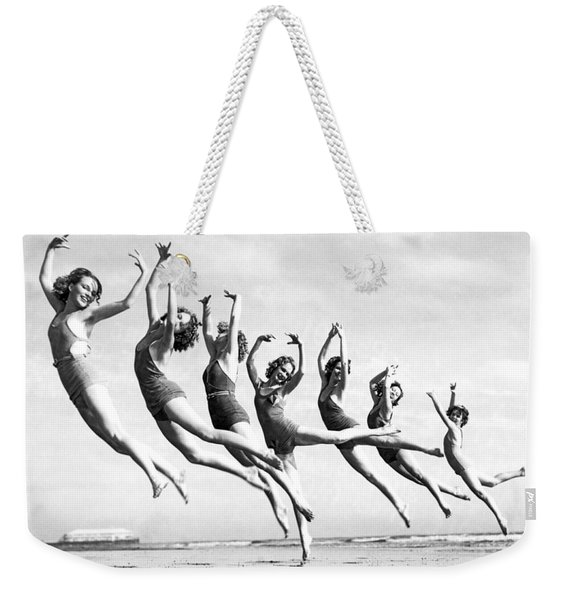 Graceful Line Of Beach Dancers Weekender Tote Bag