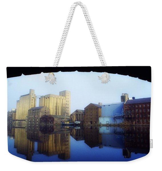 Grand Canal, Dublin, Co Dublin, Ireland Weekender Tote Bag