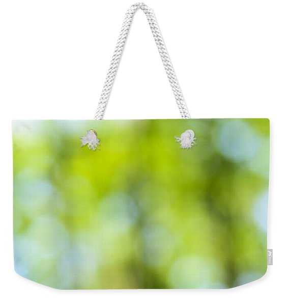 Green Forest And Blue Sky Weekender Tote Bag