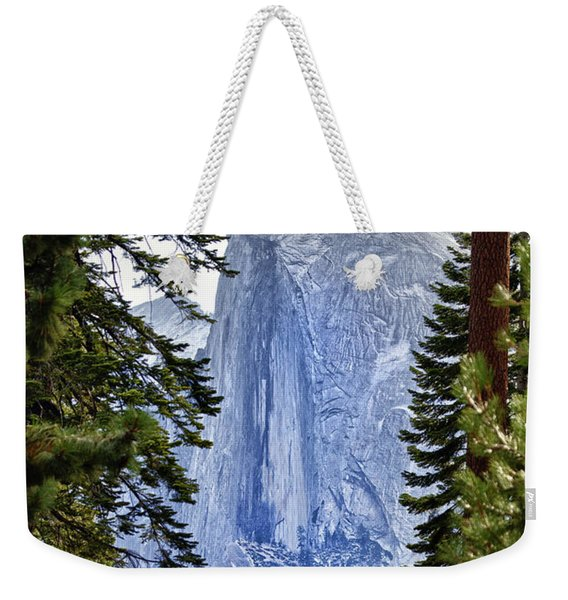 Half Dome Through The Trees Weekender Tote Bag