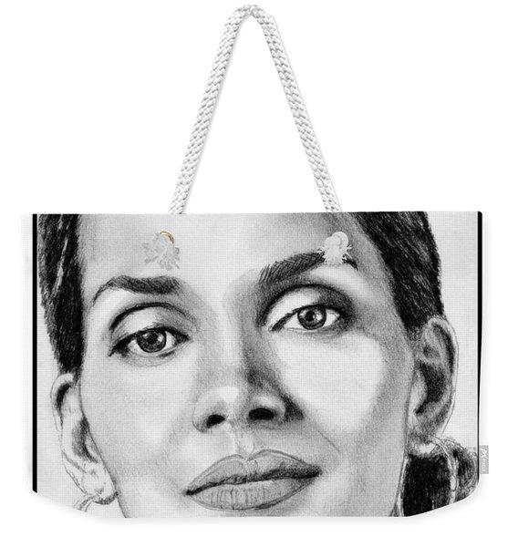 Halle Berry In 2008 Weekender Tote Bag