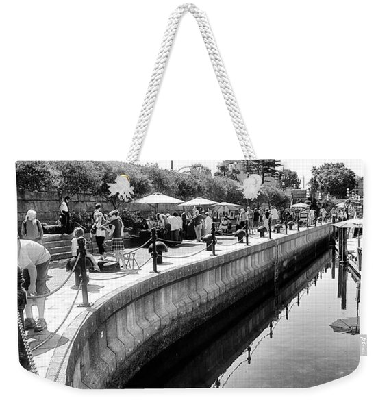Hanging At The Harbor Weekender Tote Bag