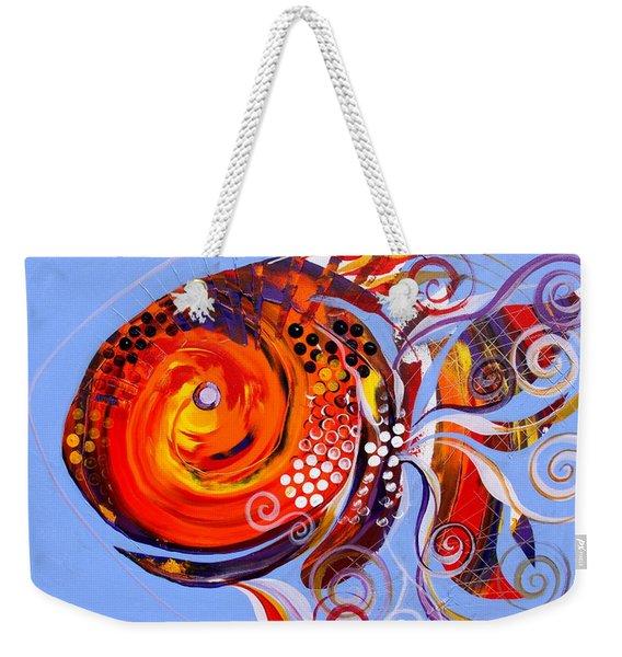 Happy Rainbow Fish Weekender Tote Bag