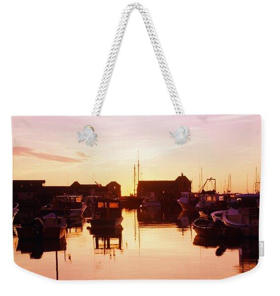 Harbor At Sunrise Weekender Tote Bag