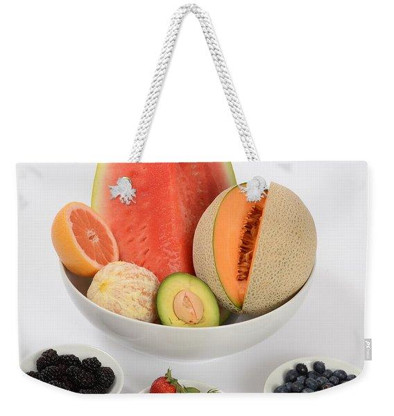 High Carbohydrate Fruit Weekender Tote Bag