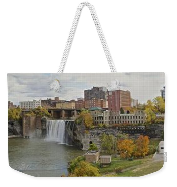High Falls Panorama Weekender Tote Bag