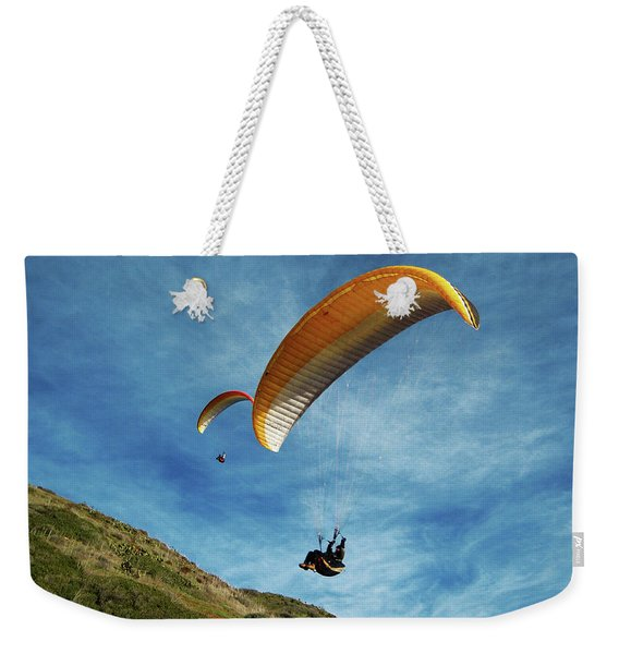 Weekender Tote Bag featuring the photograph High Flyers by Lorraine Devon Wilke