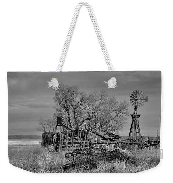 Weekender Tote Bag featuring the photograph High Plains Wind by Ron Cline