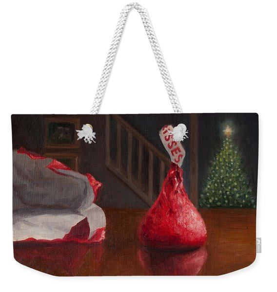 Holiday Kiss Weekender Tote Bag