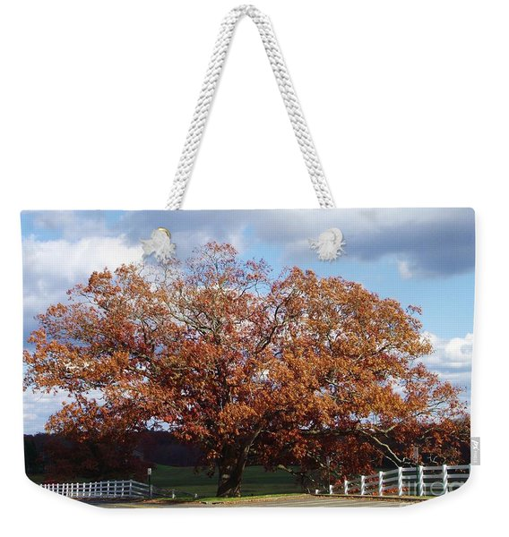 Horse Barn Hill In Autumn Weekender Tote Bag