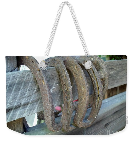 Horse Shoes Weekender Tote Bag