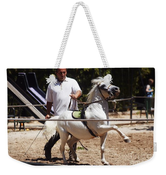 Horse Training Weekender Tote Bag