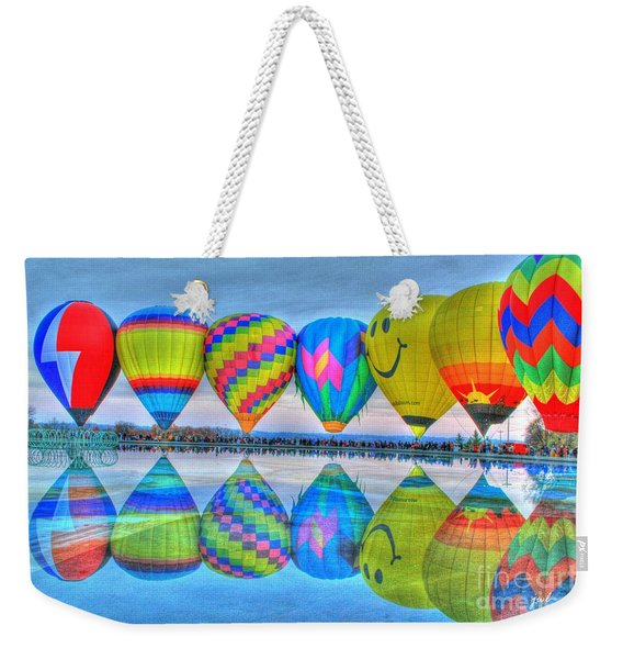 Hot Air Balloons At Eden Park Weekender Tote Bag