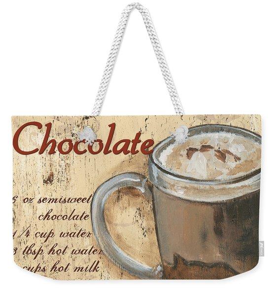 Hot Chocolate Weekender Tote Bag