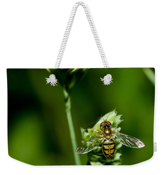 Hoverfly On Grass Weekender Tote Bag