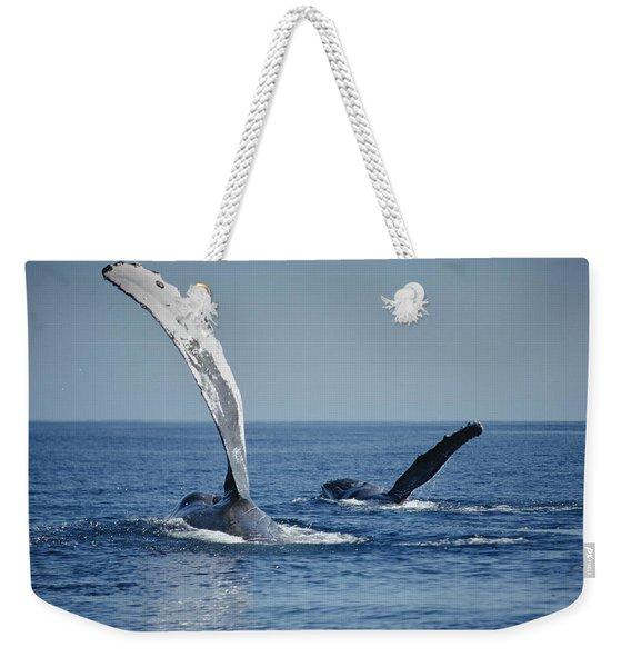 Humpback Whale Pectoral Slap Maui Weekender Tote Bag
