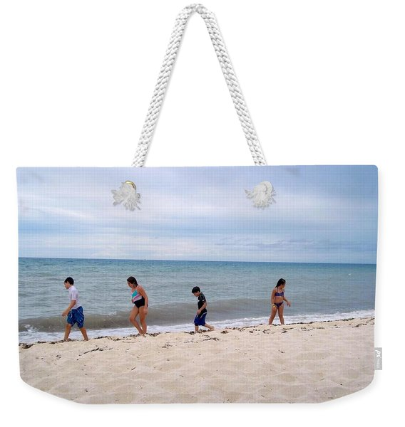 Weekender Tote Bag featuring the photograph Hurry Up  by Cynthia Amaral
