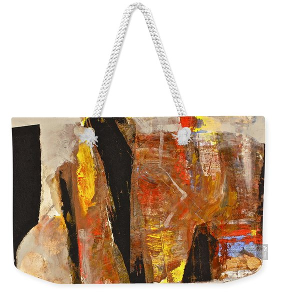 Weekender Tote Bag featuring the painting I Do What Hindu by Cliff Spohn