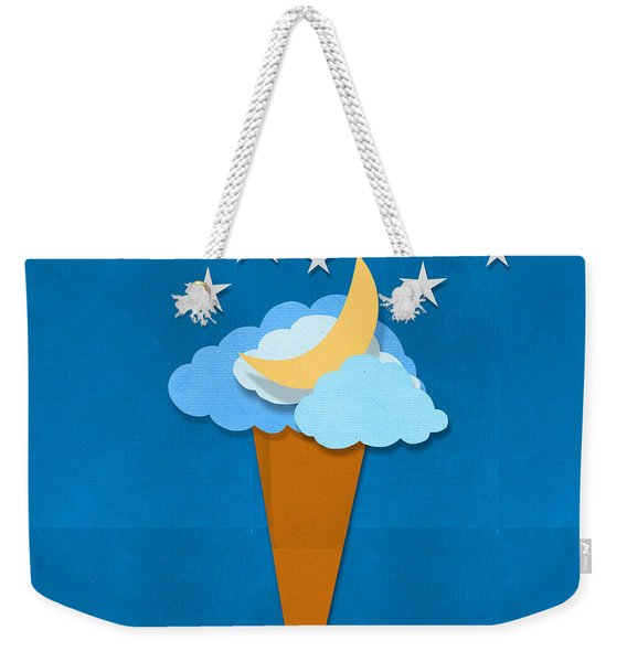 Ice Cream Design On Hand Made Paper Weekender Tote Bag