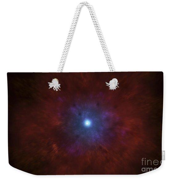 Illustration Of A Massive Star Going Weekender Tote Bag
