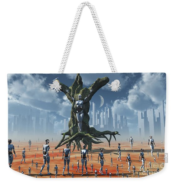 In An Alternate Reality Cyborgs Pay Weekender Tote Bag