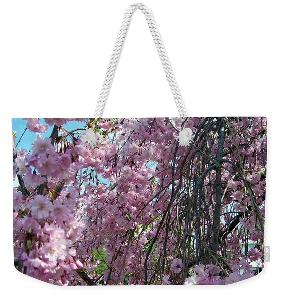 Weekender Tote Bag featuring the painting In Bloom by Cynthia Amaral