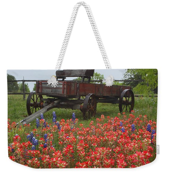 Indian Paintbrush And Wagon Weekender Tote Bag
