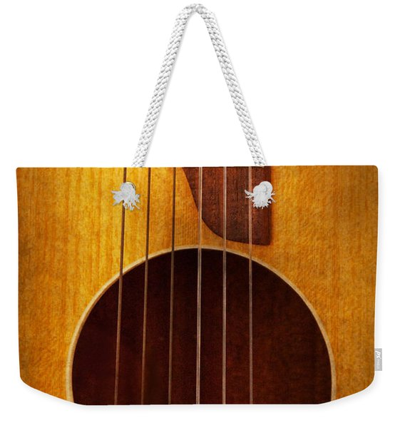 Instrument - Guitar - Let's Play Some Music  Weekender Tote Bag