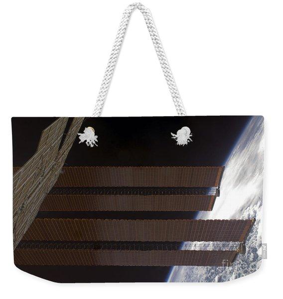 International Space Stations Solar Weekender Tote Bag
