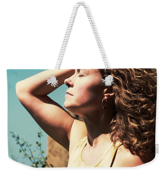 Weekender Tote Bag featuring the photograph Into The Sun by Lorraine Devon Wilke