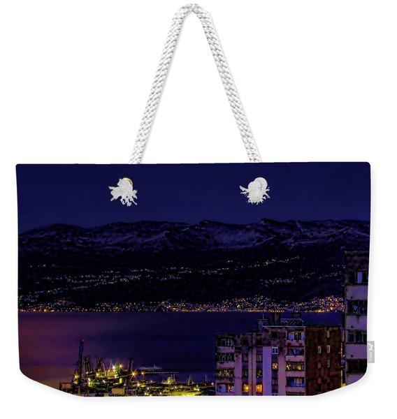 Istrian Riviera At Night Weekender Tote Bag