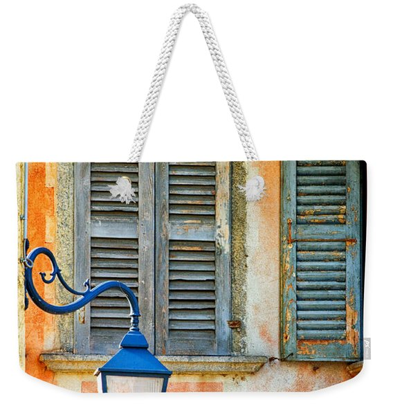 Italian Street Lamp With Window And Decorated Wall Weekender Tote Bag