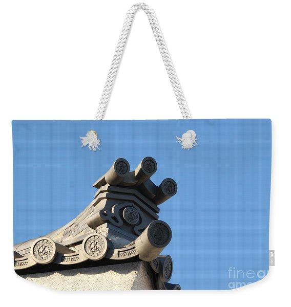 Japanese Rooftop Weekender Tote Bag