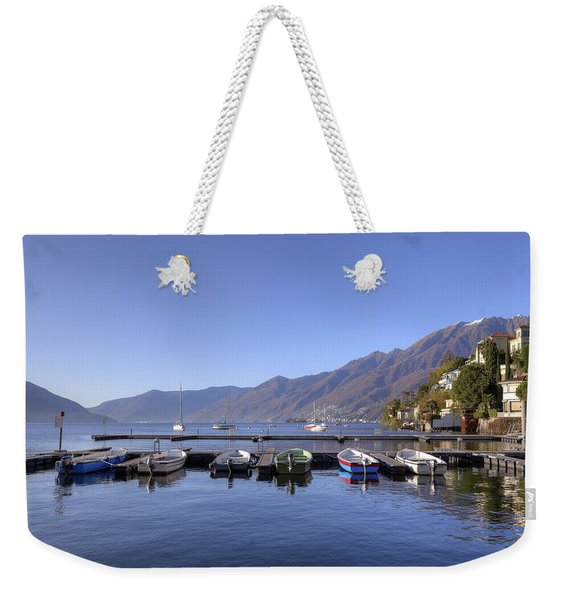 jetty in Ascona Weekender Tote Bag