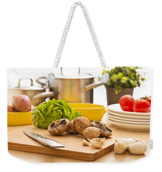 Kitchen Still Life Preparation For Cooking Weekender Tote Bag