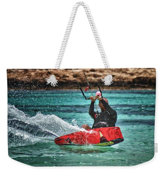 Kitesurfer Weekender Tote Bag