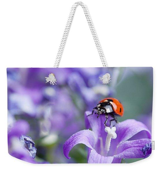 Ladybug And Bellflowers Weekender Tote Bag